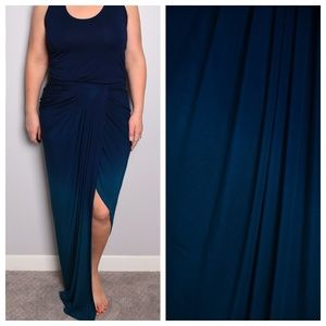 Young Fabulous & Broke Ombre Ruched Maxi Dress